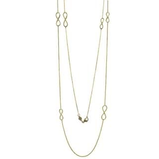 Fancy 14k Italian Yellow Gold Infinity Symbol 36-inch Necklace