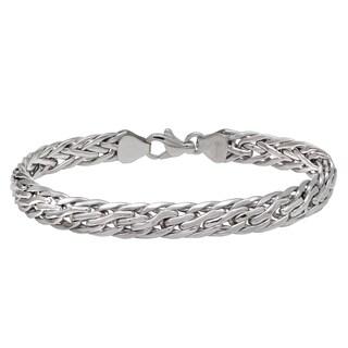 14k White Gold 7.25-inch Wheat Link Bracelet