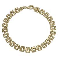 Women's 14k Yellow Gold High Polish Stampato Bracelet