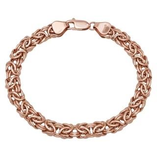 Women's 14k Rose Gold 7.5-inch Byzantine Bracelet