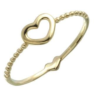 Women's 14k Yellow Gold Size 7 Heart Ring