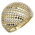 14k Yellow Gold Diamond-cut Dome Ring