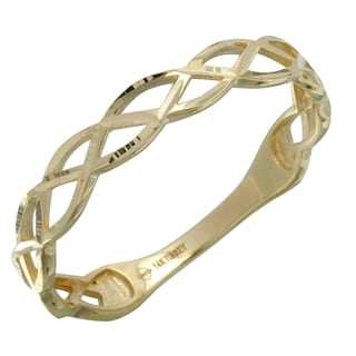 Women's 14k Yellow Gold Size 7 Braided Ring