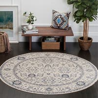 "Safavieh Patina Vintage Light Grey/ Ivory Rug - 6'7"" x 6'7"" round"