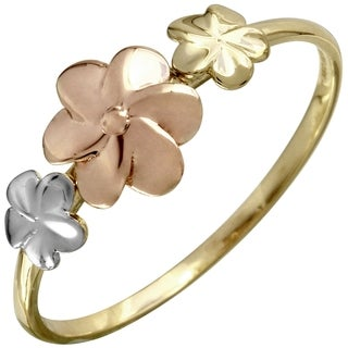 14k Gold Floral Design Ring