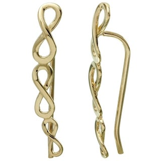 Women's 14k Yellow Gold Eternity Symbol French Hook Earrings