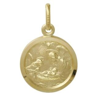 14-karat Yellow Gold 5/8-inch Diameter Baptism Medal