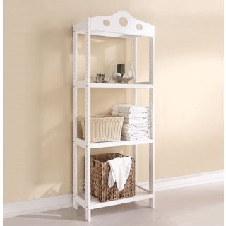 Sarila Solid Pine Shelf Rack, White