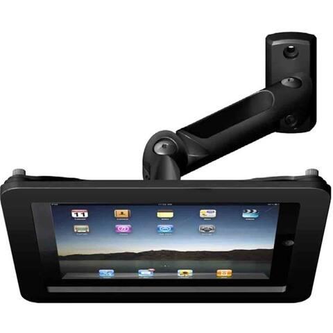 iPad 2/3/4/Air/Air2 Secure Executive Enclosure with Swing Arm Kiosk Black
