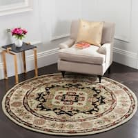 Safavieh Hand-hooked Total Performance Soft Green / Ivory Acrylic Rug (8' Round)