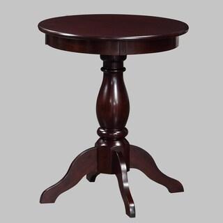 Alice Cottage Espresso 23.5-inch High Pedestal Accent Table