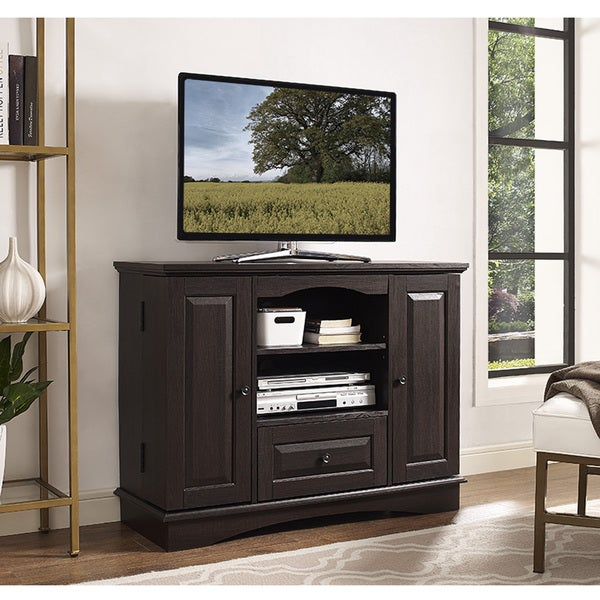 Brown Wood 42 Inch Tall TV Stand With Storage