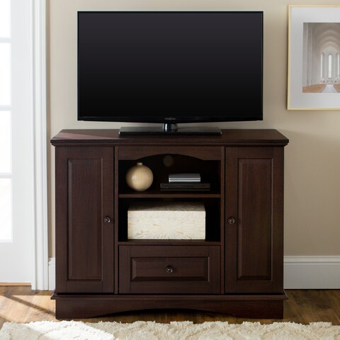 Brown Wood 42-inch Tall TV Stand With Storage