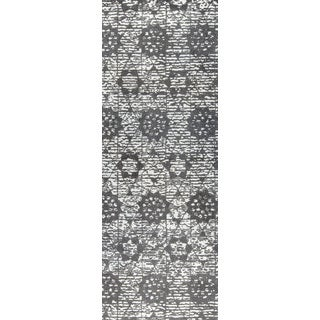 "M.A.Trading Hand Woven Baltimore Charcoal/Grey (2'6""x8')"