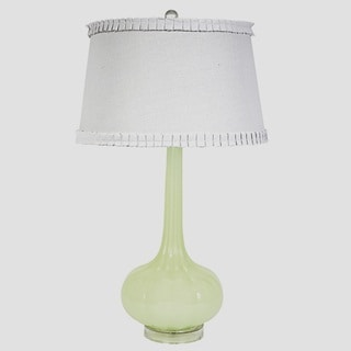 Dakota Classic Green Glass Base Lamp