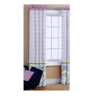 Heritage Kids 'Owl One' Multicolored Polyester Curtain Panel Pair