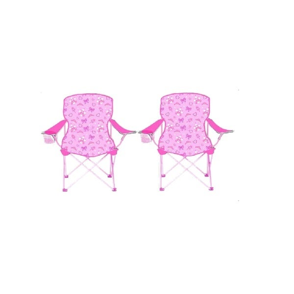 Sizzlin Cool Princess Pink Metal Children Foldable Chair (Set of 2)