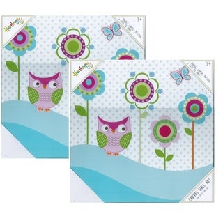 Heritage Kids 'Owl' Multicolored Canvas Graphic Art (Set of 2)