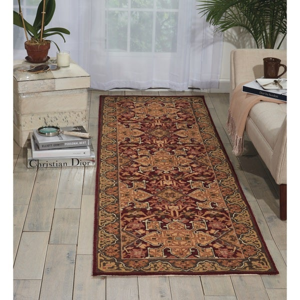 Nourison Williamsburg Burgundy Area Rug (2'6 x 8')