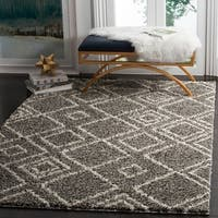 "Safavieh Arizona Shag Southwestern Brown / Ivory Rug - 6'-7"" X 9'-2"""