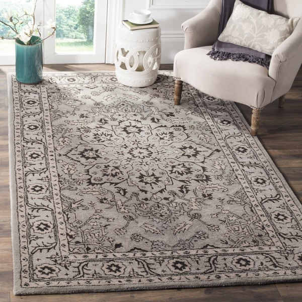 Safavieh Handmade Antiquity Grey Beige Wool Rug 8 X 10