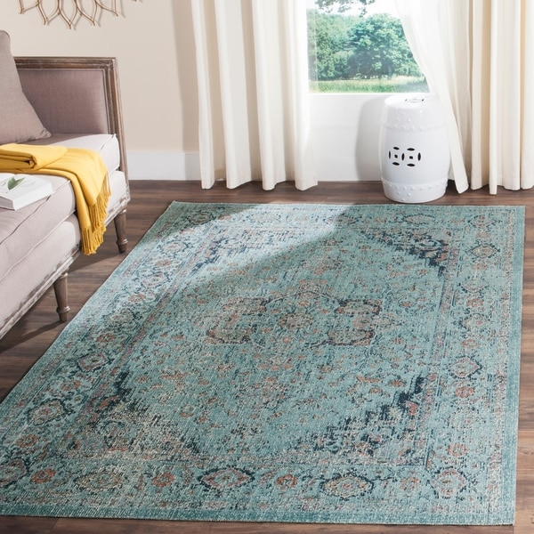 "Safavieh Artisan Vintage Light Blue Distressed Area Rug - 6'7"" x 9'"