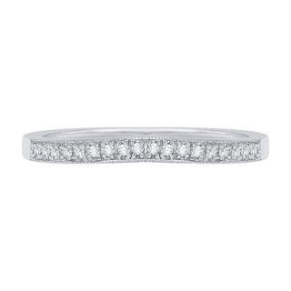 14K White Gold 1/10ct TDW Diamond Wedding Band (G-H, I2)