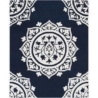 Safavieh Handmade Bella Navy / Ivory Wool Rug - 8' x 10'