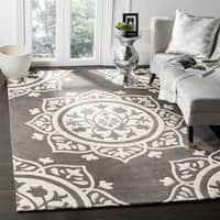 Safavieh Handmade Bella Dark Grey / Ivory Wool Rug - 8' x 10'