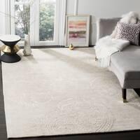 Safavieh Handmade Bella Paisley Silver / Beige Wool Rug - 8' x 10'