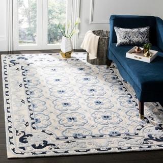 Safavieh Handmade Bella Ivory / Blue Wool Rug (8' x 10')