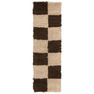 Nourison Splendor Beige/Brown Shag Area Rug (2' x 7')
