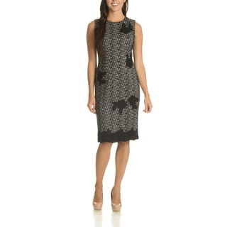 Taylor Women's Crochet Detail Sheath Dress