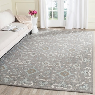 Safavieh Handmade Blossom Grey Wool Rug (9' x 12')