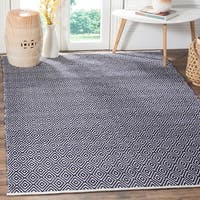 Safavieh Handmade Boston Navy Cotton Rug - 8' x 10'