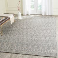 Safavieh Hand-Woven Cape Cod Grey / Gold Jute / Cotton Rug - 10' x 14'