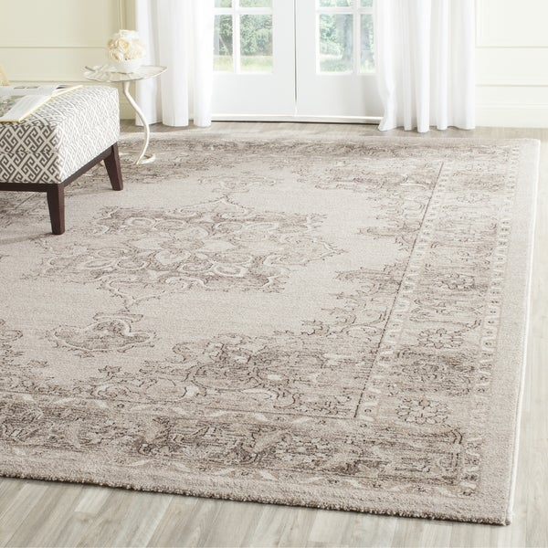Shop Safavieh Carmel Vintage Beige Brown Distressed Rug