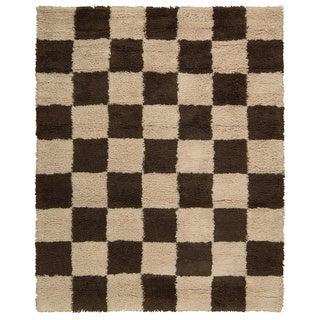 Nourison Splendor Beige/Brown Shag Area Rug (7'3 x 9'3)