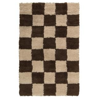 Nourison Splendor Beige/Brown Shag Area Rug (5' x 8')