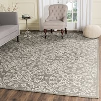 Safavieh Handmade Cedar Brook Grey / Natural Jute Rug (9' x 12') - 9' x 12'