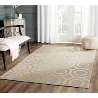 Safavieh Handmade Cedar Brook Grey / Gold Jute Rug (8' x 10')