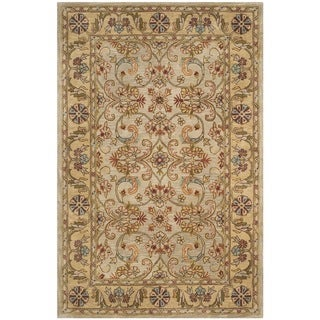 Safavieh Handmade Classic Grey / Light Gold Wool Rug (9' x 12')
