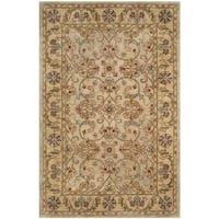 Safavieh Handmade Classic Grey / Light Gold Wool Rug - 9' x 12'