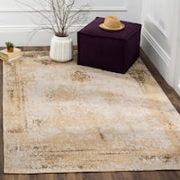 Safavieh Classic Vintage Sand Cotton Abstract Distressed Rug - 8' x 11'
