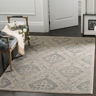 Safavieh Carnegie Vintage Taupe / Light Blue Rug (9' x 12')
