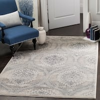 Safavieh Carnegie Vintage Light Grey/ Cream Distressed Rug - 9' x 12'