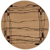 """Nourison Ariel Beige Area Rug (5'3 Round) - 5'3"""" x round"""