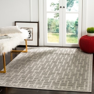 Safavieh Indoor / Outdoor Cottage Grey Rug (8' x 11')