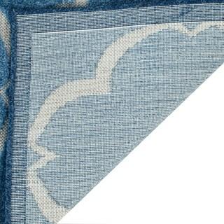 Safavieh Indoor / Outdoor Cottage Moroccan Blue / Cream Rug (8' x 11')
