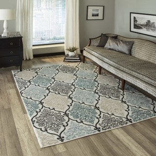 "Machine-Made Regent Vivianne Multi Polypropylene with Polyester Rug (7'10"" x 9'10"")"